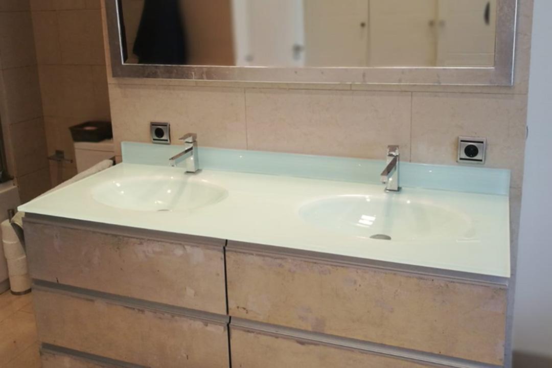 Lavabos cristal - Encimera lavabo cristal ...